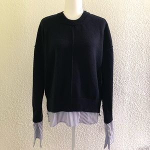 Topshop sweater with cuffed sleeves size 4